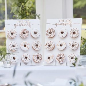 Donut Wall Stands - Rose Gold for a wedding, bridal shower, birthday party or baby shower
