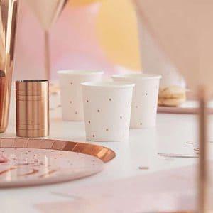 Rose Gold Paper Shot Glass Cups