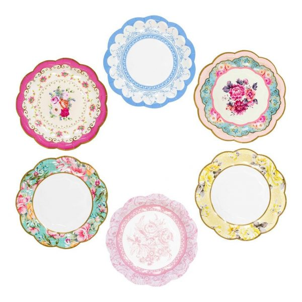 Tea party plates perfect for parties at home and buffets