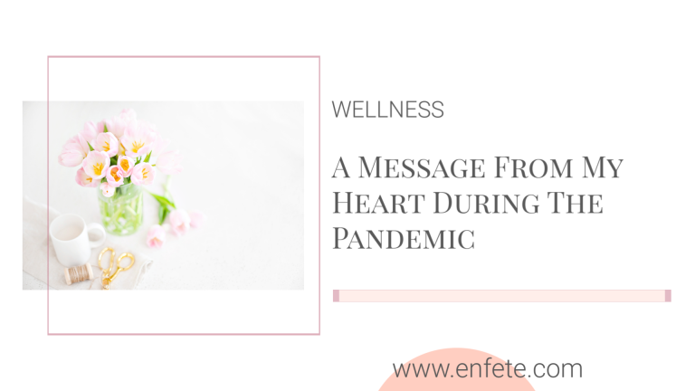 A message from my heart in the middle of the COVID-19 pandemic - a business owner with anxiety's perspective