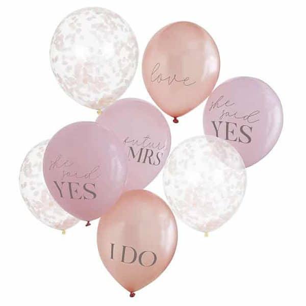 Peach blush and confetti Bridal Shower balloon bouquet