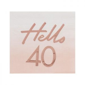 Hello 40 40th birthday party ideas and supplies