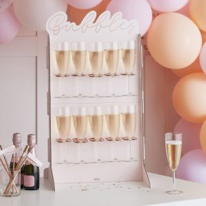 Bubbles Champage Wall in Rose gold and blush