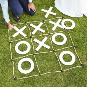 Backyard Wedding Tic Tac Toe Yard Game
