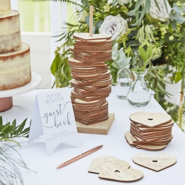 Alternative Guest book stacking hearts