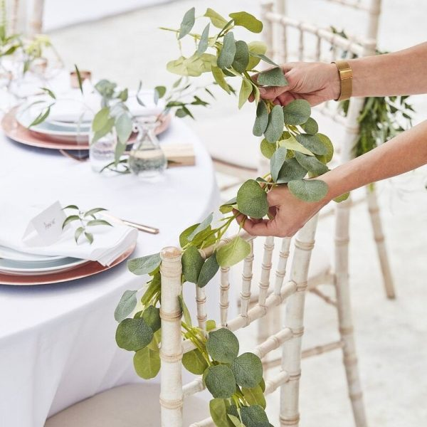 Artificial Eucalyptus Garland for a Wedding Arch or table decorations.