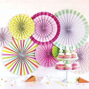 Easter Colored Paper Backdrop Fans
