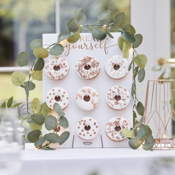 Eucalyptus Vine Fairy Lights for a wedding, baby shower or bridal shower.