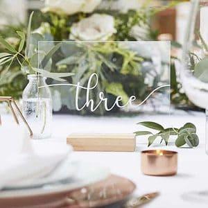 Acrylic Table Numbers for Backyard & DIY Weddings
