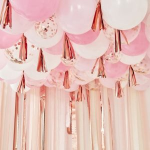 BLush and Pink Balloon backdrop