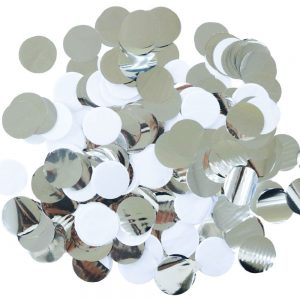 Silver and White Disco Party Confetti