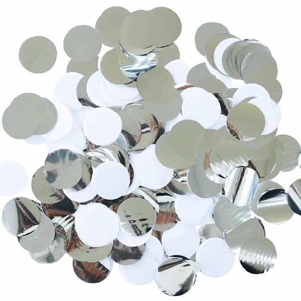 Silver and White Disco Party Confetti