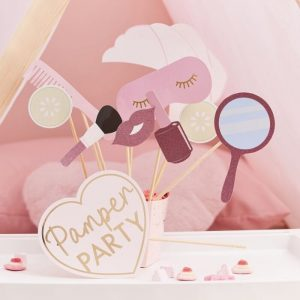 Pamper Party Photo Props for Birthdays and Bridal Showers