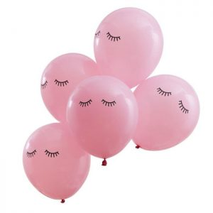 Sleepy Eyes Pamper the Bride to Be and Birthday Party Balloons
