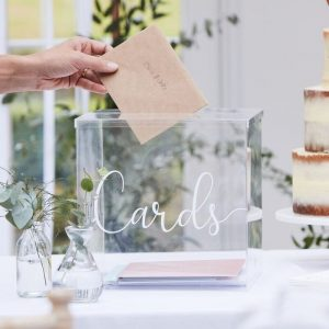 Acrylic Wedding Card Box