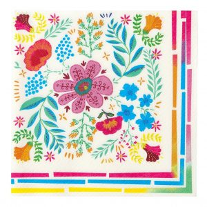 Boho Fiesta Bright Colored Party Napkins