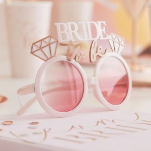 Rose Gold bride to be glasses