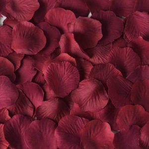 Burgundy Rose Petals for Fall and winter weddings and bridal showers