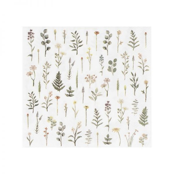 Botanical Themed Bridal Shower and Wedding Cocktail Napkins perfect for a tea party.