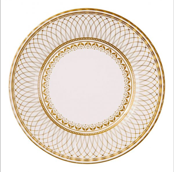 Gold Paper Plates - Party Porcelain for Weddings, Anniversaries and milestone birthdays