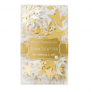 Gold Star Confetti - perfect table scatter in shades of gold and white