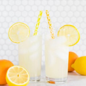 Lemon Citrus drinking straws perfect for a She Found Her Main Squeeze Bridal Shower