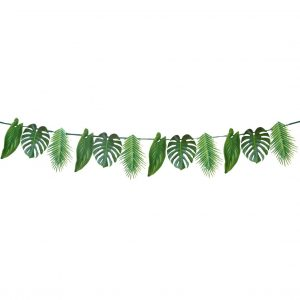 Monstera and Palm Leaf Tropical Bridal Shower and Fiesta Party Garland
