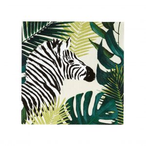 These palm leaf and zebra napkins are a great touch for any topical or botanical event. Create a wild atmosphere for your besties bridal shower