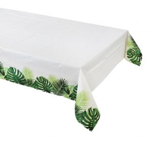 Tropical Palm Leaf Table Cover - Beautiful Party Supplies for your wedding, bridal shower , or baby shower.