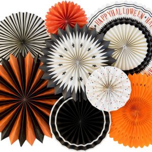 Vintage Halloween Backdrop Fans