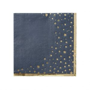 Navy Blue Celestial Cocktail Napkins for a wedding, birthday or bridal shower