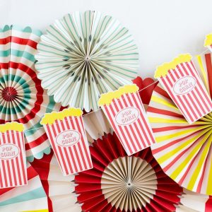 Circus Party Popcorn Night Banner