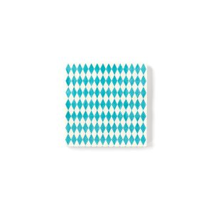 Argyle Blue and White Oktoberfest Cocktail Napkins