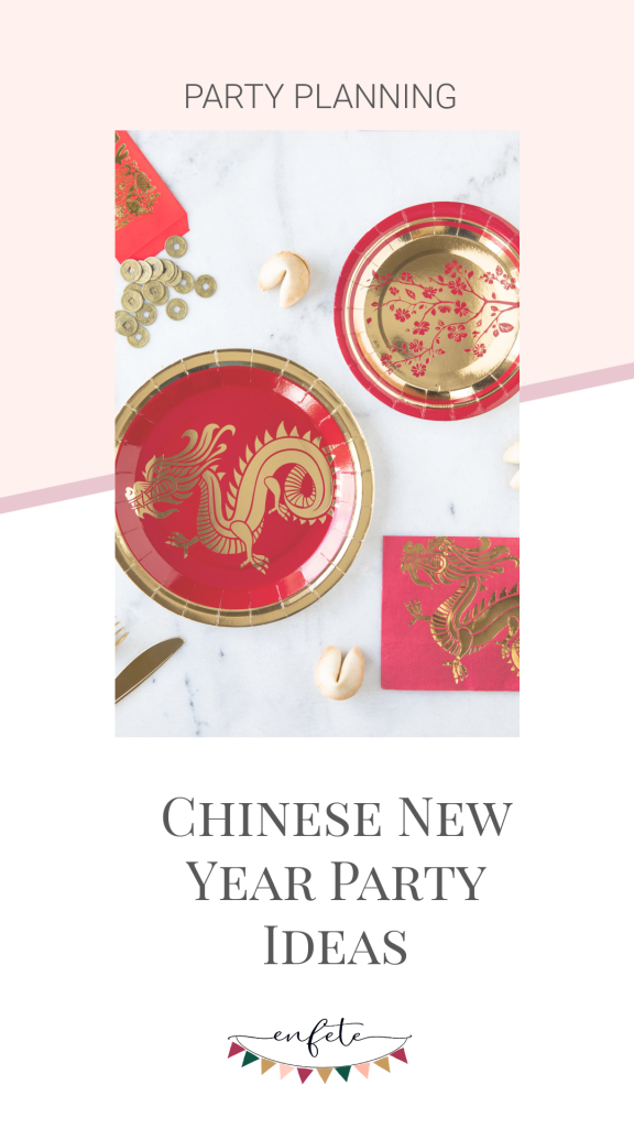 Ideas for the Year of the Ox Lunar New Year - shop here for party supplies and decoration in red and gold