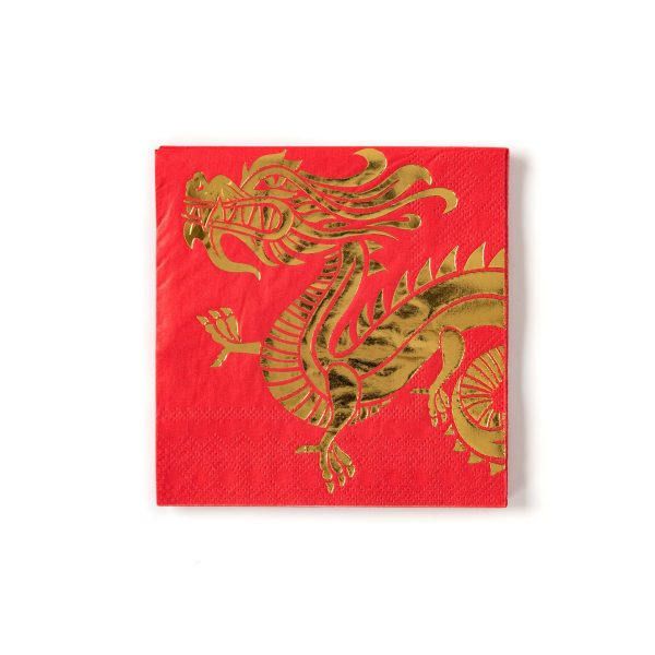 Dragon Cocktail napkins for Chinese New Year 2021