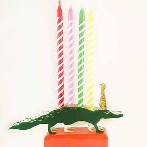 Alligator Birthday Candle Holder