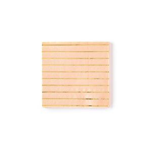 peach cocktail napkins with a thin gold foil stripe
