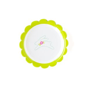 Easter Bunny paper plates for a fun Easter brunch or dessert plate