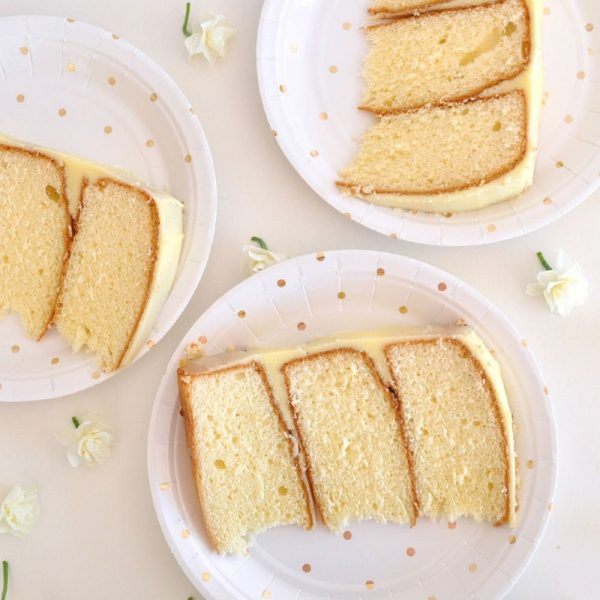 Gold Polka Dot Paper plates that are dessert size