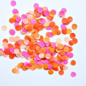 Pink and Orange confetti for table confetti or confetti balloon filler