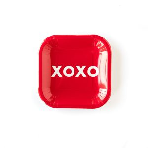XOXO Valentine Paper Plates