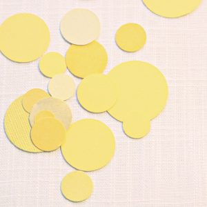 Lemon yellow paper table confetti