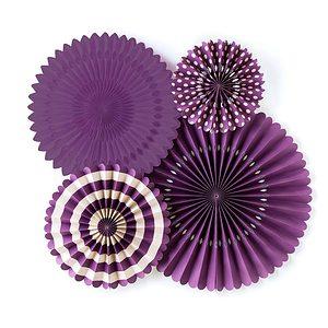 Purple Backdrop fans - perfect for a Mardi Gras Party
