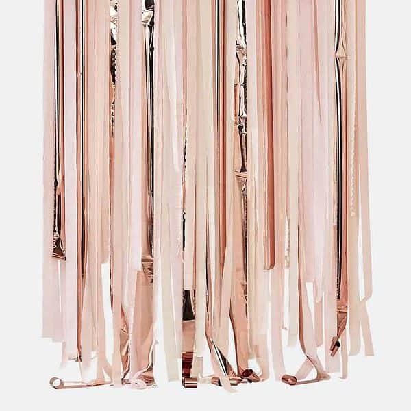 Rose gold backdrop streamers kit