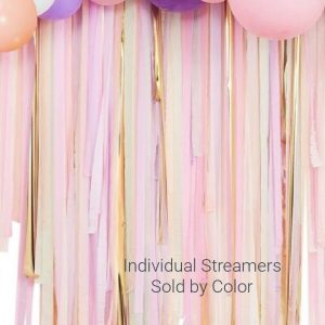 Pastel Backdrop Streamers - sold in single rolls to make a great party backdrop