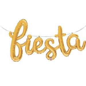 Gold Fiesta Balloon Banner