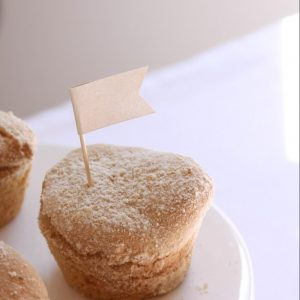 Ivory Pearl Cupcake Toppers