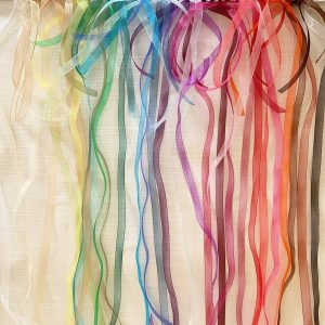 Organza Balloon Tails to make bridal shower, baby shower and birthday balloon bouquets extra special