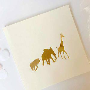 Safari Baby Shower Napkins gold foil on cream luncheon napkins