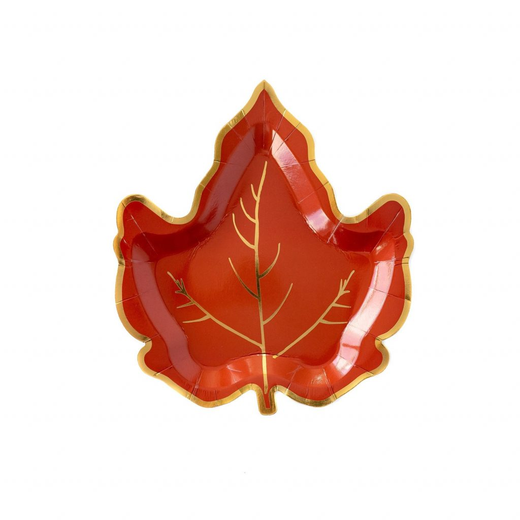 Fall Leaf Cake or Dessert Plates perfect for Thanksgiving Friendsgiving and Autumn bridal and baby showers